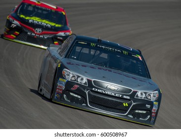 LAS VEGAS, NV - MAR 12: Kasey Kahne (5) at the NASCAR Monster Energy Cup Series Kobalt 400 race at Las Vegas Motorspeedway in Las Vegas on March 12th, 2017