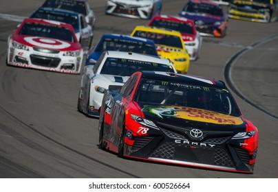 LAS VEGAS, NV - MAR 12: Martin Truex Jr at the NASCAR Monster Energy Cup Series Kobalt 400 race at Las Vegas Motorspeedway in Las Vegas on March 12th, 2017