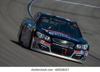 LAS VEGAS, NV - MAR 12: Jeffrey Earnhardt at the NASCAR Monster Energy Cup Series Kobalt 400 race at Las Vegas Motorspeedway in Las Vegas on March 12th, 2017