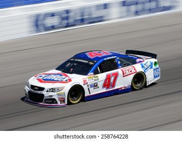 LAS VEGAS, NV - March 07: AJ Allmendinger at the NASCAR Sprint Kobalt 400 practice at Las Vegas Motor Speedway in Las Vegas on March 07, 2015