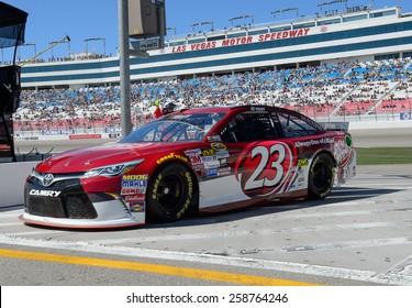 LAS VEGAS, NV - March 07: JJ Yeley at the NASCAR Sprint Kobalt 400 practice at Las Vegas Motor Speedway in Las Vegas on March 07, 2015