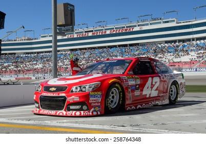 LAS VEGAS, NV - March 07: Kyle Larson at the NASCAR Sprint Kobalt 400 practice at Las Vegas Motor Speedway in Las Vegas on March 07, 2015
