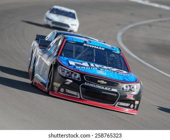 LAS VEGAS, NV - March 07: Alex Bowman at the NASCAR Sprint Kobalt 400 practice at Las Vegas Motor Speedway in Las Vegas on March 07, 2015