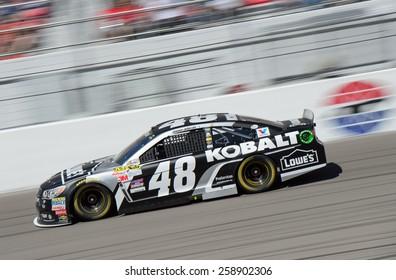 LAS VEGAS, NV - March 08: Jimmie Johnson at the NASCAR Sprint Kobalt 400 race at Las Vegas Motor Speedway on March 08, 2015