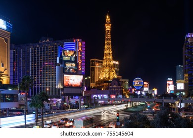 """Las Vegas, NV - March 25, 2017: The lights of Las Vegas, Nevada moments before being turned off along """"The Strip"""" in support of Earth Hour. (3627)"""