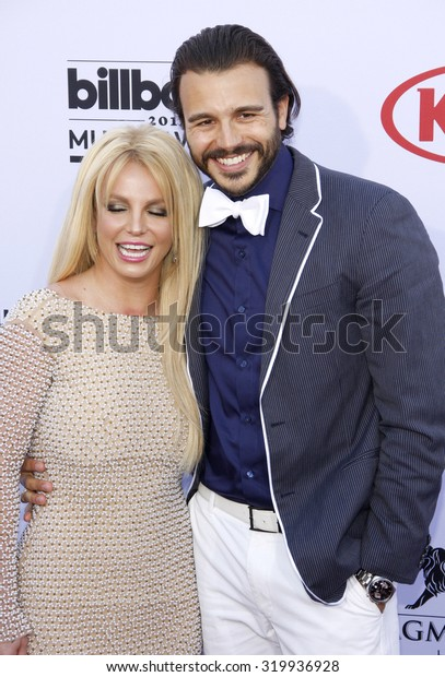 LAS VEGAS, NV - MAY 17: 2015: Britney Spears and Charlie Ebersol at the 2015 Billboard Music Awards held at the MGM Garden Arena in Las Vegas, USA on May 17, 2015.