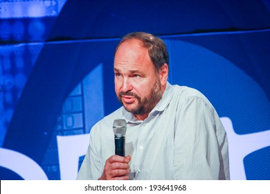 LAS VEGAS, NV -?? MAY 6, 2014: CEO Pivotal Paul Maritz makes speech at EMC World 2014 conference on May 6, 2014 in Las Vegas, NV