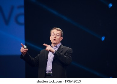 LAS VEGAS, NV -?? MAY 6, 2014: CEO VMware Pat Gelsinger makes speech at EMC World 2014 conference on May 6, 2014 in Las Vegas, NV