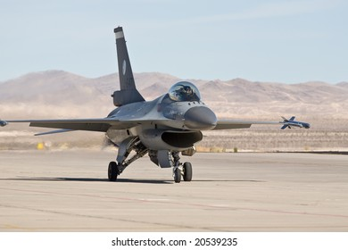 LAS VEGAS, NV - NOV 7:  Royal Netherlands Air Force F-16 Fighting Falcon fighter prepares to perform at Aviation Nation 2008 Airshow, November 7, 2008 at Nellis AFB, Las Vegas, NV
