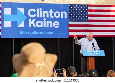 LAS VEGAS, NV - November 6, 2016: Bernie Sanders Lectures Crowd During Campaign For Democratic Party And Hillary Clinton At CSN.