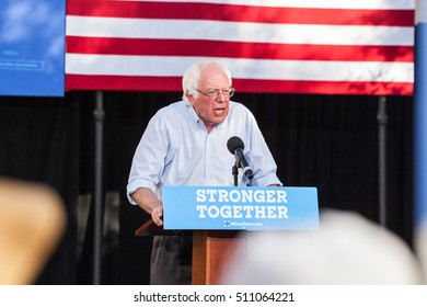 LAS VEGAS, NV - November 6, 2016: Bernie Sanders Looking Upset Campaigns For Democratic Party at CSN.