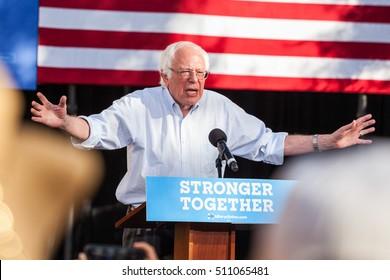 LAS VEGAS, NV - November 6, 2016: Bernie Sanders Campaigns With Open Arms For Democratic Party at CSN.