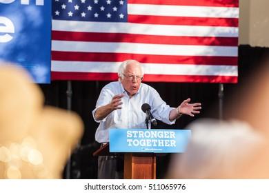 LAS VEGAS, NV - November 6, 2016: Bernie Sanders Campaigns For Democratic Party at CSN.