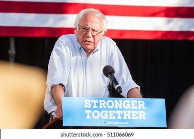 LAS VEGAS, NV - November 6, 2016: Bernie Sanders Campaigns For Democratic Party at CSN.