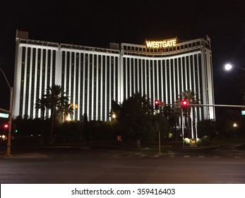 LAS VEGAS, NV - OCT 25: Westgate Las Vegas Resort & Casino in Las Vegas, Nevada, as seen on Oct 25, 2015. It has a 74,000 square feet casino and is also home to the largest sports book in Las Vegas.