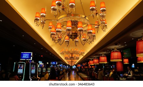 LAS VEGAS, NV - OCT 27: The Cromwell Las Vegas in Nevada, as seen on Oct 27, 2015. t was built as the Barbary Coast Hotel & Casino and was later known as Bill's Gamblin' Hall and Saloon.