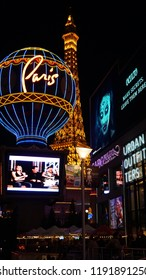 LAS VEGAS, NV - OCT 30: The Paris Hotel & Casino in Las Vegas, Nevada, on Oct 30, 2015. This hotel is located on the Las Vegas Strip and includes a replica of the Eiffel Tower and Arc De Triomphe.