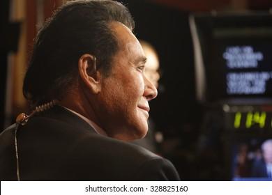 LAS VEGAS, NV - OCTOBER 13 2015: CNN Democratic presidential debate features music-Vegas entertainment icon and legend, Wayne Newton at Wynn Las Vegas in first CNN Democratic Debate.