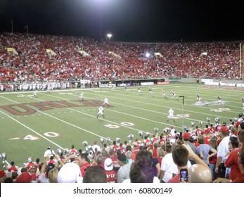 LAS VEGAS, NV - SEPTEMBER 4: Wisconsin vs. UNLV: UNLV kick off ball to Wisconsin.  Taken September 4, 2010 at Sam Boyd Stadium Las Vegas, Nevada.