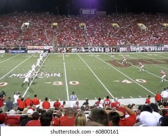 LAS VEGAS, NV - SEPTEMBER 4: Wisconsin vs. UNLV: Wisconsin kick off ball to UNLV.  Taken September 4 2010 at Sam Boyd Stadium Las Vegas, Nevada.