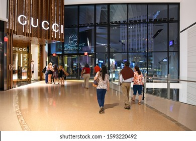 Las Vegas NV, USA 09-28-17 The Shops at Crystals is an upscale luxury goods shopping mall in the City Center complex.