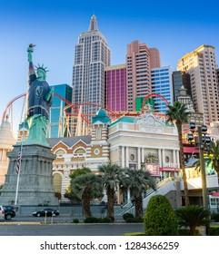 Las Vegas, NV, USA - Dec 13-2018 - New York Hotel at South Las Vegas