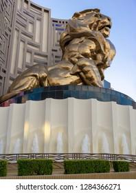 Las Vegas, NV, USA - Dec 13-2018 - MGM Lion