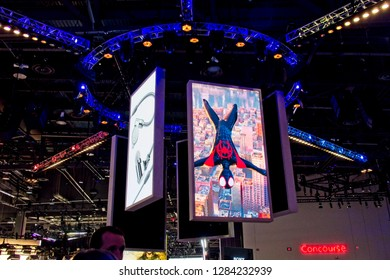 Las Vegas, NV, USA, Jan. 8, 2019: The 2019 CES Show features the latest innovations in spectacular displays like this from Sony Corporation.