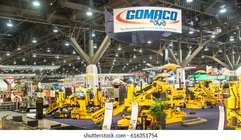 Las Vegas, NV, USA - Mar. 6, 2017: Heavy construction equipment on display at CONEXPO trade show.