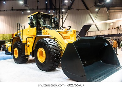 Las Vegas, NV USA - Mar.9, 2017: Con Expo presents a stunning array of highly engineered, heavy duty construction equipment .