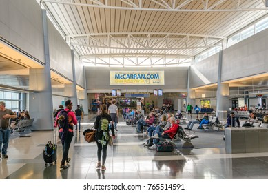 Las Vegas, NV/ USA - November 13, 2017: interior of Terminal D at McCarran International Airport