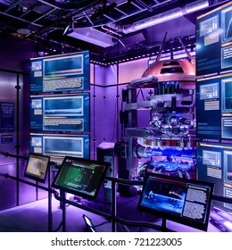 LAS VEGAS, NV, USA - SEP 20, 2017: Tesseract experiment at the Avengers Station complex in Las Vegas.