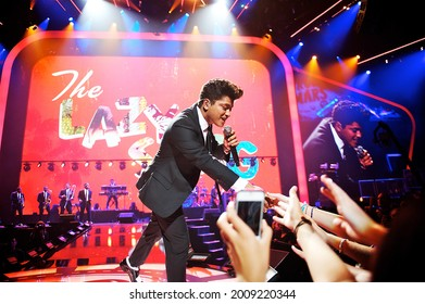Las Vegas, NV, USA: September 23, 2011 - Bruno Mars performs at the inaugural iHeartRadio Music Festival at the MGM Grand Garden Arena.