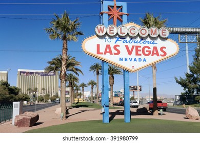 LAS VEGAS, NV, USA-JAN 16: Las Vegas Famous Signboard, January 16, 2014
