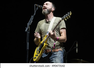Las Vegas, NV/USA - 9/23/16: James Mercer of The Shins performs at Life Is Beautiful Fest in Las Vegas, NV.  He has received Grammy Award nominations for The Shins and his other band Broken Bells.