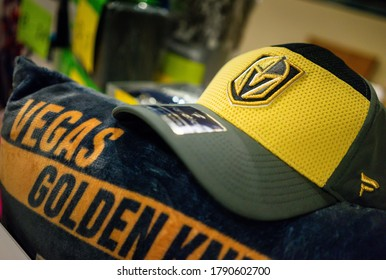 Las Vegas, NV/USA - December 4 2019: Golden Knights hat and towel.