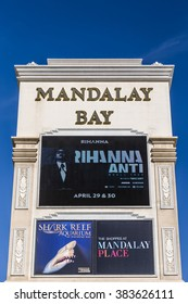 LAS VEGAS, NV/USA - FEBRUARY 15, 2016: Mandalay Bay Hotel and Casino. Mandalay Bay is on the Las Vegas Strip and is owned and operated by MGM Resorts International.