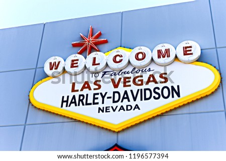 Las Vegas Nvusa Sep 152018 Welcome Stock Photo Edit Now 1196577394
