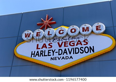 Las Vegas Nvusa Sep 152018 Welcome Stock Photo Edit Now 1196577400