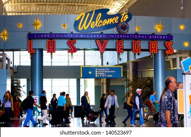 LAS VEGAS, NY - MAY 8: McCarran International Airport in Las Vegas NV on May 8, 2012.  Located 5 miles south of downtown, it is the principal airport serving Las Vegas.