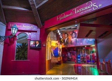 LAS VEGAS - OCT 05 : Exterior of the Madame Tussauds museum in Las Vegas on October 05 2016 , The two-floor 30,000-square-foot museum has 100-plus wax replicas.