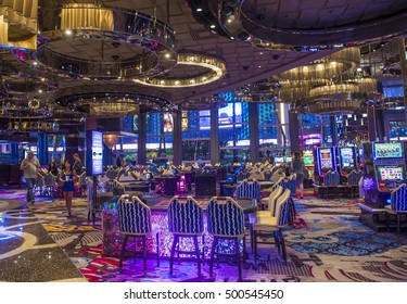LAS VEGAS - OCT 05 : The Interior of Cosmopolitan hotel and casino on October 05 2016 in Las Vegas. The Cosmopolitan opened in 2010 and it has 2,995 rooms and 75,000 sq ft casino.