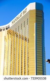 LAS VEGAS - OCT 07 ,2017 : Mandalay Bay after the shoot incident on the Las Vegas Strip