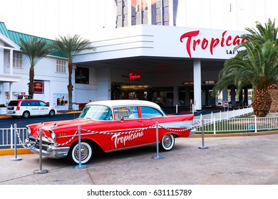 LAS VEGAS - Oct 09 : The Tropicana hotel and casino on October 09 2016 in Las Vegas. The Tropicana opened in 1957 and it is the one of the oldest hotels on the Las Vegas Strip.