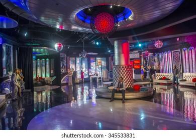 LAS VEGAS - OCT 23 : The Madame Tussauds museum in Las Vegas on October 23 2015 , The two-floor 30,000-square-foot museum has 100-plus wax replicas.