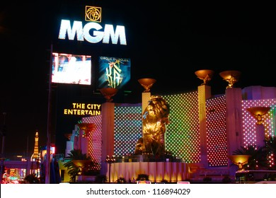 LAS VEGAS - OCTOBER 29: The MGM Grand Las Vegas on October 29, 2011 in Las Vegas. The MGM Grand opened in 1993 and is one of the largest hotels in the world.