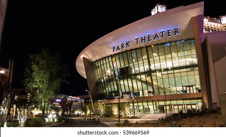 Las Vegas On December 17 2016 :  Park Theater at Monte Carlo Open on December 2016 : The  host worldwide performers in Las Vegas : for Editorial Used Only