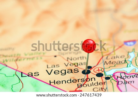 Las Vegas Pinned On Map USA Stock Photo (Edit Now) 247617439 ...