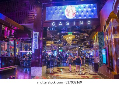 LAS VEGAS - SEP 03 : The Interior of Cosmopolitan hotel and casino on September 03 2015 in Las Vegas. The Cosmopolitan opened in 2010 and it has 2,995 rooms and 75,000 sq ft casino.