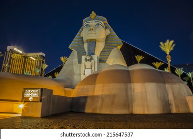 LAS VEGAS - Sep 05 2014 : View of Luxor Hotel on September 05 , 2014 in Las Vegas. Casinos line The Las Vegas Strip for an approximately 4.2-mile (6.8 km) stretch of Las Vegas Boulevard in Nevada.